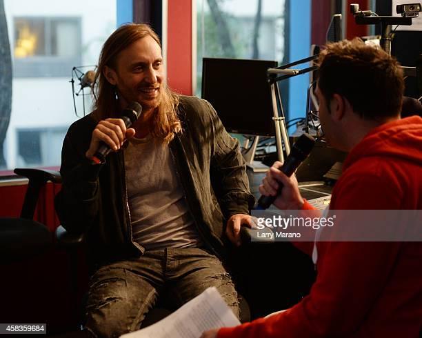David Guetta visits radio Station 973 The Hits on November 3 2014 in Miami Florida