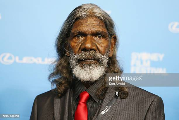 David Gulpilil arrives ahead of the Sydney Film Festival Opening Night Gala at State Theatre on June 8 2016 in Sydney Australia