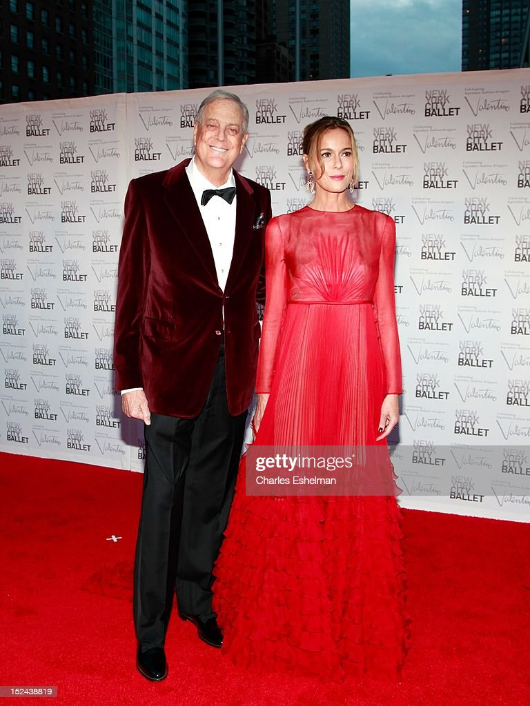 David H. Koch and wife Julia M. Flesher Koch attend the 2012 New York City Ballet fall gala at David H. Koch Theater, Lincoln Center on September 20, 2012 in New York City.