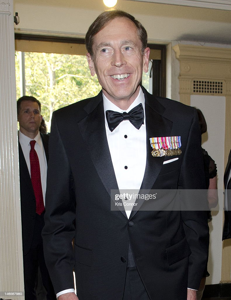 David H. Petraeus poses for a photo during the 40th Annual Jefferson Awards on June 19, 2012 in Washington, United States.