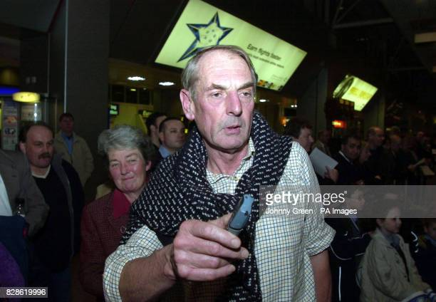 David Haplin from Haytor Devon is welcomed back home by his wife Sue and other wellwishers after he landed at Heathrow Airport outside London * Mr...