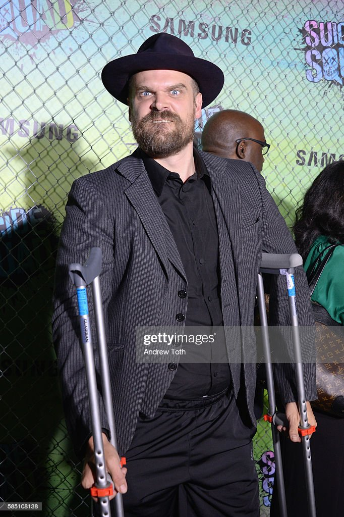 David Harbour attends the 'Suicide Squad' World Premiere at The Beacon Theatre on August 1, 2016 in New York City.