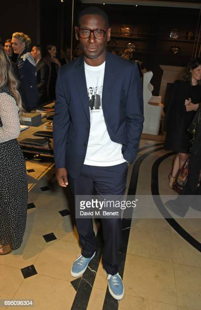 David Harewood attends a breakfast hosted by Christopher Bailey Dame Natalie Massenet and Dylan Jones in celebration of London Fashion Week Men's at...