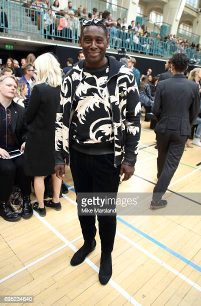 David Harewood attends London Fashion Week Men's June 2017 collections on June 12 2017 in London England