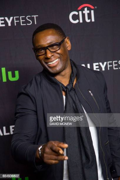 David Harewood attends PaleyFest LA at the Dolby Theatre on March 18 2017 in the Hollywood section of Los Angeles California / AFP PHOTO / DAVID MCNEW