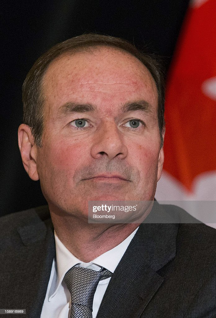 David Harquail, president and chief executive officer of Franco-Nevada Corp., listens during an event discussing Canada's economic outlook at the Empire Club of Canada in Toronto, Ontario, Canada, on Thursday, Jan. 3, 2013. The Canadian dollar fell the most in almost two weeks against its U.S. counterpart after the U.S. central bank revealed it may end monetary stimulus as early as this year, allowing the currency to appreciate.Photographer: Norm Betts/Bloomberg via Getty Images