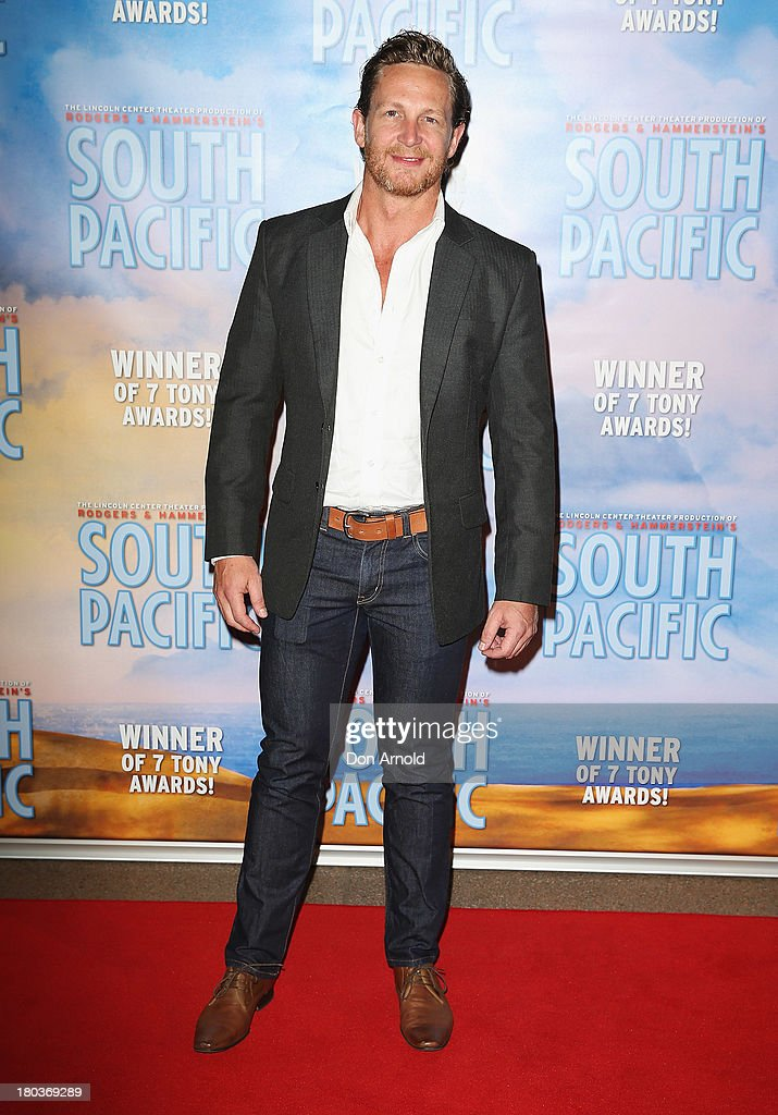 David Harris arrives at Opera Australia's 'South Pacific' opening night at the Sydney Opera House on September 12, 2013 in Sydney, Australia.