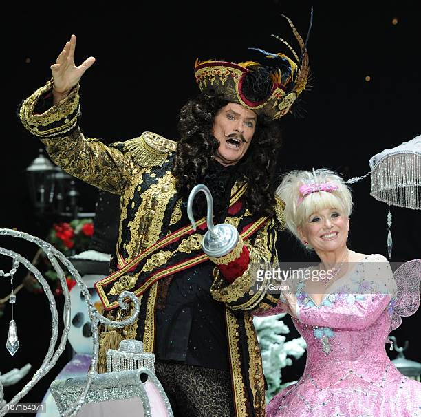 David Hasselhoff and Barbera Windsor attend the First Family Entertainment Pantomime photocall at the Piccadilly Theatre on November 26 2010 in...