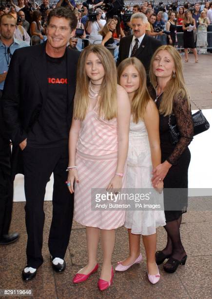 David Hasselhoff and family arrive for the UK premiere of I Robot at the Odeon Leicester Square in central London