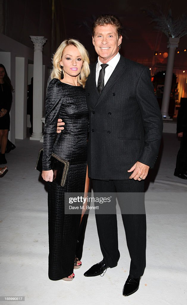 David Hasselhoff and girlfriend Hayley Roberts arrive at the Grey Goose Winter Ball at Battersea Power Station on November 10, 2012 in London, England.