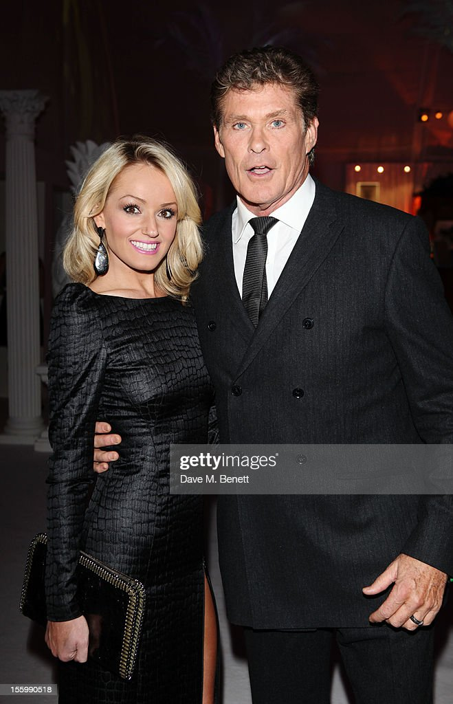 <a gi-track='captionPersonalityLinkClicked' href=/galleries/search?phrase=David+Hasselhoff&family=editorial&specificpeople=209380 ng-click='$event.stopPropagation()'>David Hasselhoff</a> and girlfriend Hayley Roberts arrive at the Grey Goose Winter Ball at Battersea Power Station on November 10, 2012 in London, England.