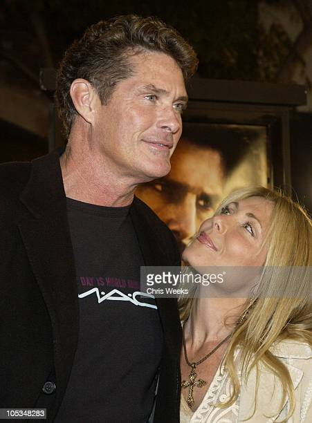 David Hasselhoff and wife Pamela Bach during 'The Last Samurai' Los Angeles Premiere at Mann's Village Theater in Westwood California United States