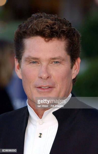 David Hasselhoff arrives for the Laureus World Sports Awards at the Forum Grimaldi in Monte Carlo