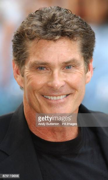David Hasselhoff arrives for the UK premiere of I Robot at the Odeon Leicester Square in central London 29/10/04 Baywatch star David Hasselhoff who...