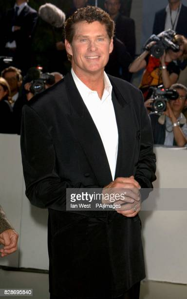 David Hasselhoff arriving at the Charity Dinner and Auction held before the Laureus Sports Awards in Monte Carlo