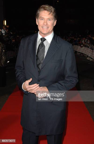 David Hasselhoff arriving for the Daily Mirror Pride of Britain Awards at London Television Studios in central London