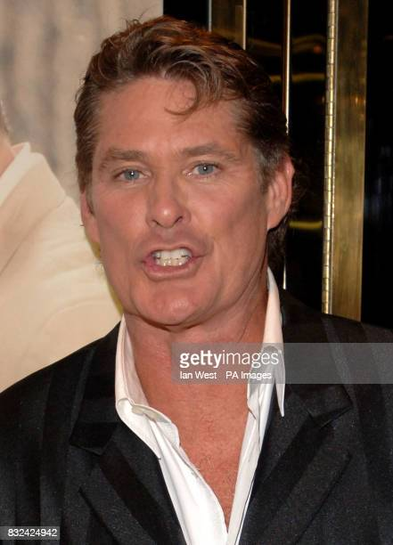 David Hasselhoff attending the UK premiere of Click at the Empire Cinema Leicester Square central London Picture date Wednesday 27 September 2006...