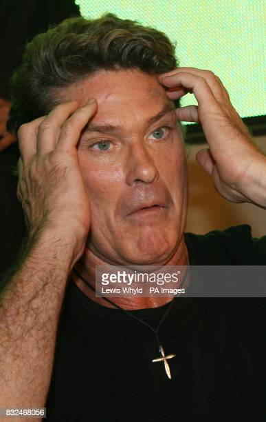 David Hasselhoff attends a signing for his new single Jump in my Car at HMV in Oxford Street central London