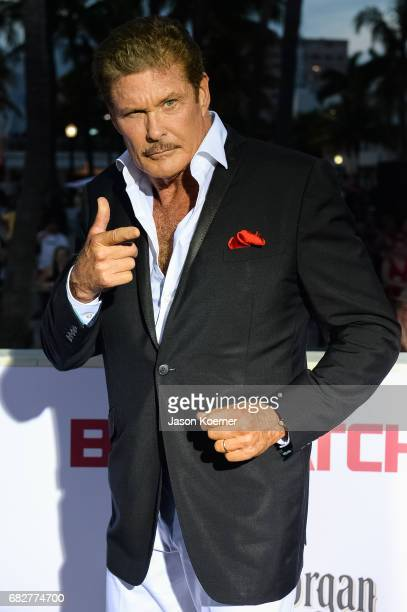 David Hasselhoff attends Paramount Pictures' World Premiere of 'Baywatch' on May 13 2017 in Miami Florida