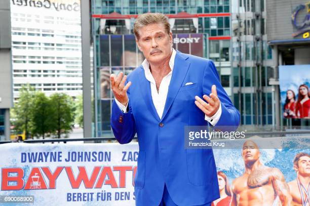 David Hasselhoff attends the 'Baywatch' Photo Call in Berlin on May 30 2017 in Berlin Germany