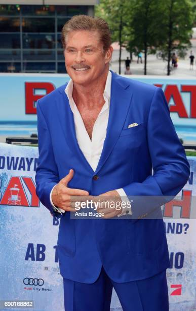 David Hasselhoff attends the 'Baywatch' photocall in Berlin on May 30 2017 in Berlin Germany