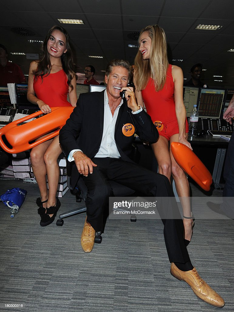 David Hasselhoff attends the BGC Partners charity day at Canary Wharf on September 11, 2013 in London, England.