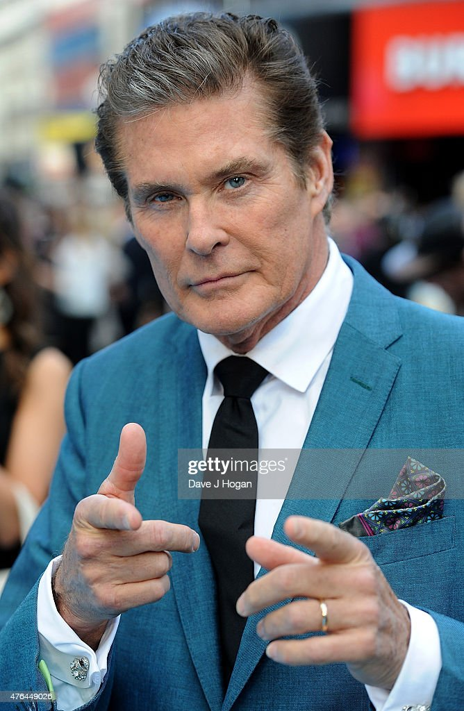 <a gi-track='captionPersonalityLinkClicked' href=/galleries/search?phrase=David+Hasselhoff&family=editorial&specificpeople=209380 ng-click='$event.stopPropagation()'>David Hasselhoff</a> attends the European Premiere of 'Entourage' at Vue West End on June 9, 2015 in London, England.