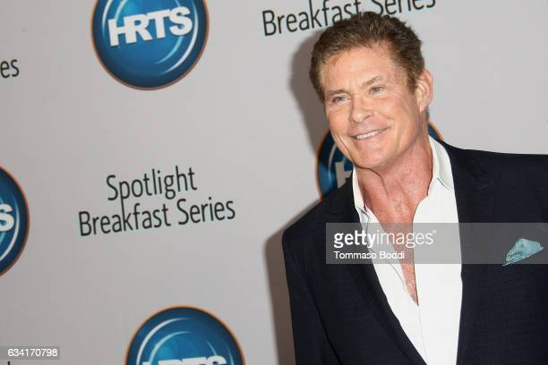 David Hasselhoff attends The Hollywood Radio And Television Society Presents The Newsmaker Luncheon Series A Moment In Time Must See TV at the...