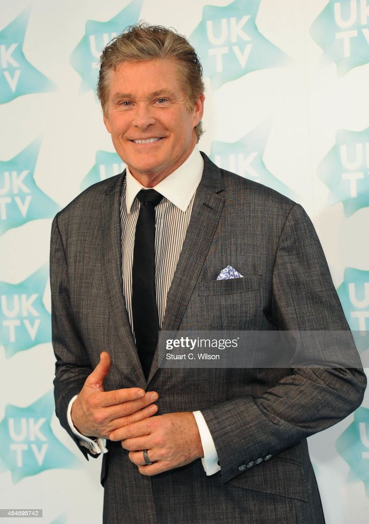 David Hasselhoff attends the launch of UKTV Live at Phillips Gallery on September 4, 2014 in London, England.