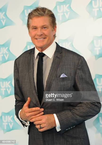 David Hasselhoff attends the launch of UKTV Live at Phillips Gallery on September 4 2014 in London England