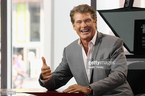David Hasselhoff attends The Morning Show Studios on August 22 2013 in Toronto Canada