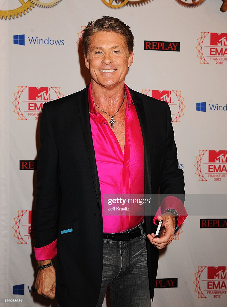 <a gi-track='captionPersonalityLinkClicked' href=/galleries/search?phrase=David+Hasselhoff&family=editorial&specificpeople=209380 ng-click='$event.stopPropagation()'>David Hasselhoff</a> attends the MTV EMA's 2012 at Festhalle Frankfurt on November 11, 2012 in Frankfurt am Main, Germany.
