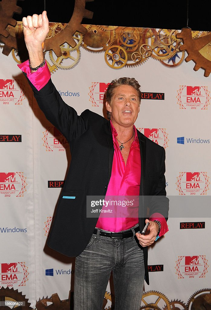 David Hasselhoff attends the MTV EMA's 2012 at Festhalle Frankfurt on November 11, 2012 in Frankfurt am Main, Germany.