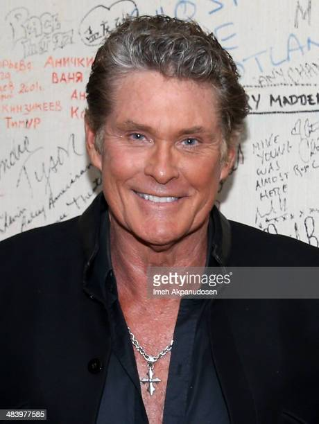 David Hasselhoff attends The Texas Tenors performance at the Desert Symphony's 25th Anniversary Series at the McCallum Theater on April 10 2014 in...