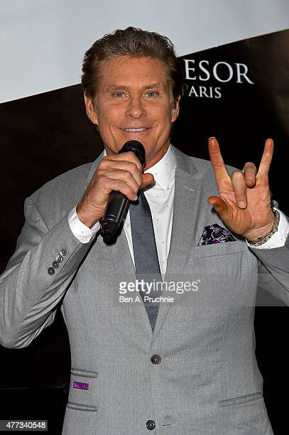 David Hasselhoff attends the Tresor Paris Store launch on June 16 2015 in London England