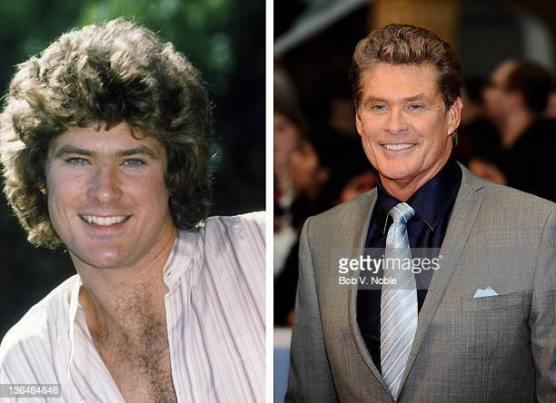 In this composite image a comparison has been made of actor David Hasselhoff Many of today's leading Hollywood stars began their careers in daytime...