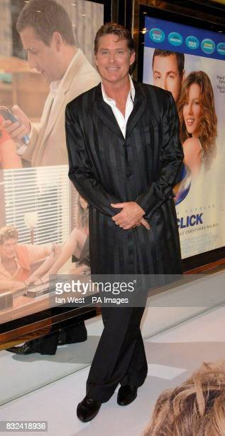 David Hasselhoff attends the UK premiere of Click at the Empire Cinema Leicester Square central London