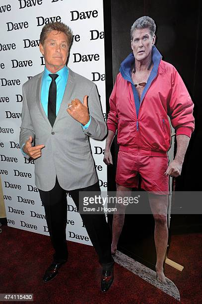 David Hasselhoff attends the UK screening of 'Hoff The Record' at The Empire Leicester Square on May 20 2015 in London England