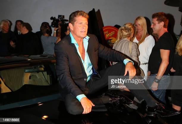 David Hasselhoff celebrates his 60th birthday at Greystone Manor Supperclub on July 21 2012 in Los Angeles California