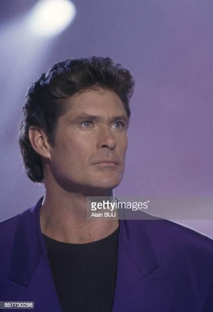 David Hasselhoff dans une emission de Dorothee pour la television francaise le 8 decembre 1993 a Paris France