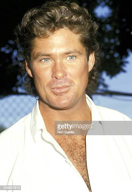 David Hasselhoff during Alpo's 11th BiAnnual Actors Others for Animals Celebrity Fair at Burbank Studio Ranch in Burbank California United States