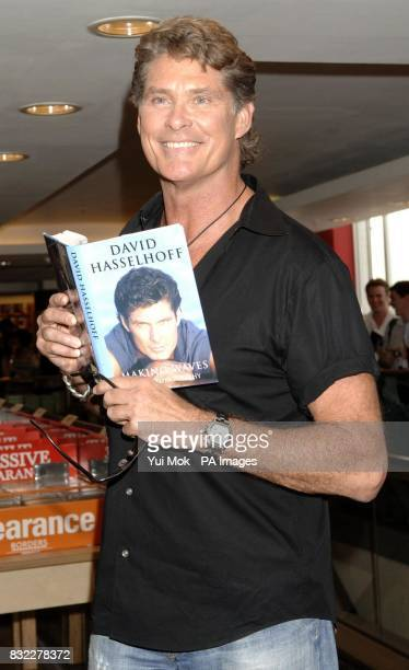David Hasselhoff during an instore signing session for his autobiography Making Waves at Borders in Oxford Street central London