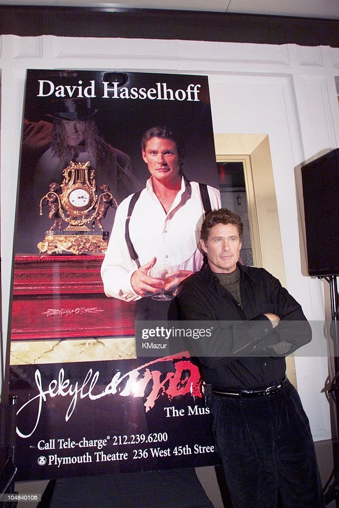 David Hasselhoff during David Hasselhoff photographed greeting fans at the Plymouth Theatre box office opens for the first day of ticket sales for...