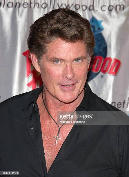 David Hasselhoff during David Hasselhoff Presents the Remote Control from 'Click' to Planet Hollywood at Planet Hollywood in New York City New York...