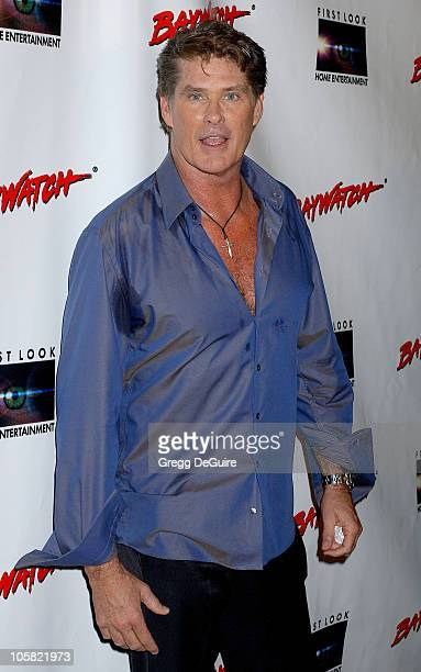 David Hasselhoff during Pamela Anderson Hosts DVD Release Of 'Baywatch' Seasons One And Two Arrivals at Casa Del Mar in Santa Monica California...