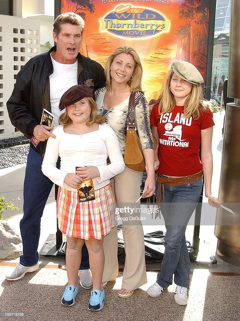 David Hasselhoff & family during 'The Wild Thornberrys Movie' Premiere at Cinerama Dome in Hollywood, California, United States.