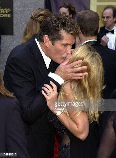 David Hasselhoff from NBC show 'Knight Rider' with wife Pamela