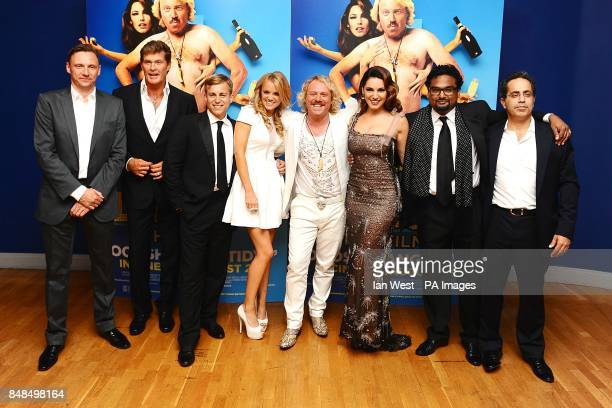 David Hasselhoff Kevin Bishop Laura Aikman Leigh Francis Kelly Brook and Paul Angunawela arriving for the UK Premiere of Keith Lemon The Film at the...