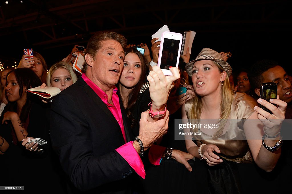 David Hasselhoff meets fans at the MTV EMA's 2012 at Festhalle Frankfurt on November 11, 2012 in Frankfurt am Main, Germany.
