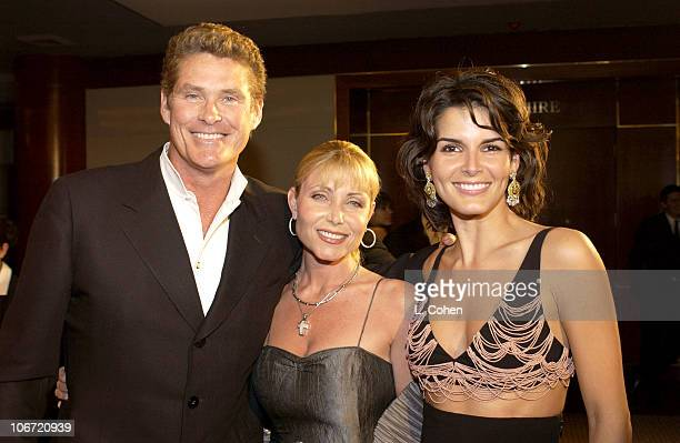David Hasselhoff Pamela Bach and Angie Harmon during InStyle Magazine Hosts Fourth Annual PostGolden Globes Party to Honor Hollywood's Elite Arrivals...